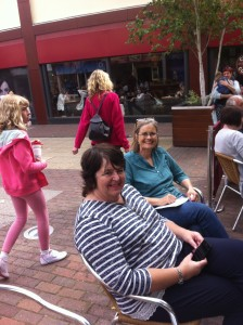 Lynne Stone and Annette Kittredge providing the support!